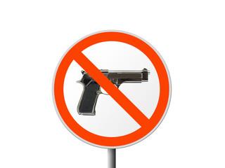 Round sign No gun
