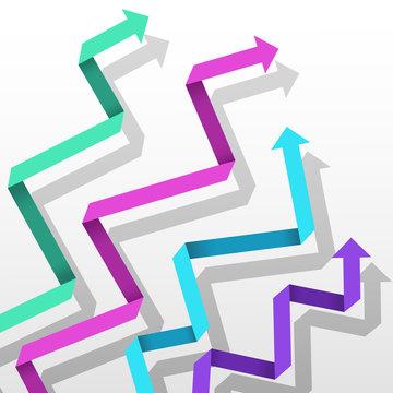 Colorful paper arrows