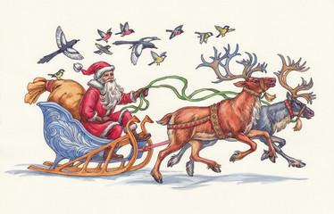 Санта Клаус, Рождество.