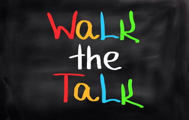 Walk The Talk Concept