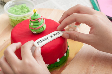 fondant cake preparation