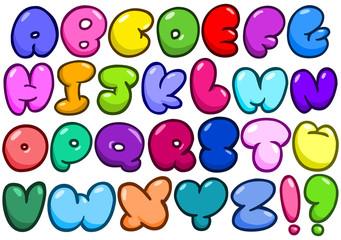Comic bubble alphabet