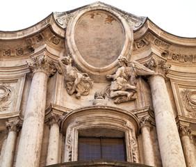 Sculptured marble decoration