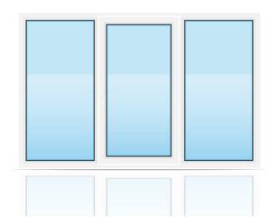 plastic transparent window view indoors vector illustration