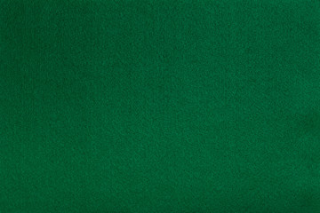 Green felt tissue cloth, closeup texture background