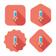 Champaign flat icon with long shadow, eps10