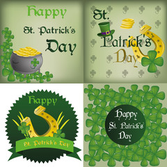 a set of different backgrounds and labels for patrick's day