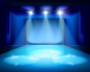 Stage spot lighting. Vector illustration.