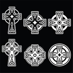 Irish, Scottish Celtic white cross on black