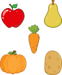 Fruit and Vegetable. Collection Set
