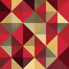 A retro geometric vector pattern with a grunge texture