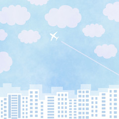 Plane - Sky – City Buildings