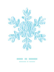 Vector abstract frost swirls texture Christmas snowflake