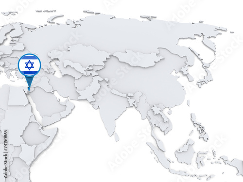 Map Of Asia Israel.Israel On A Map Of Asia Stock Photo And Royalty Free Images On
