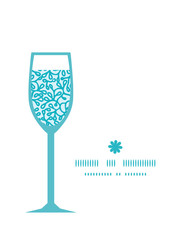 Vector abstract underwater plants wine glass silhouette pattern