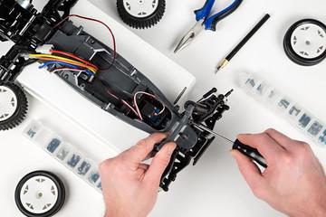 rc car assembling