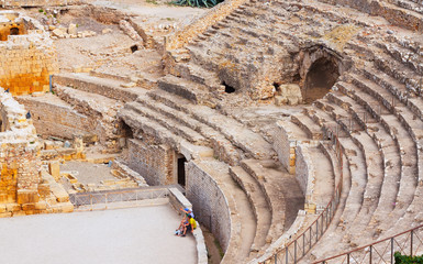 The Roman amphitheater at Tarragona