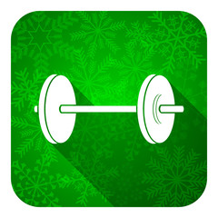 fitness flat icon, christmas button