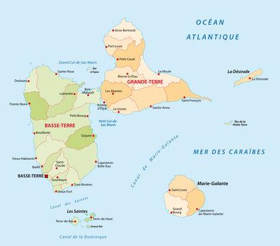 guadeloupe administrative map