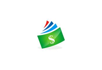 dollar bill vector logo