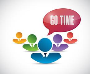 go time teamwork sign illustration