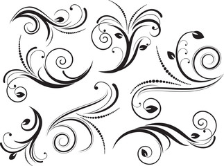 Set of decorative  elements for design. Vector illustration.