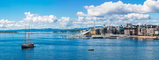 Oslo skyline and harbor. Norway