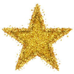 Goldener Stern, Glimmer, Glitter, viele Sternchen, golden Star