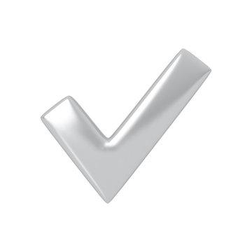 Silver check mark.