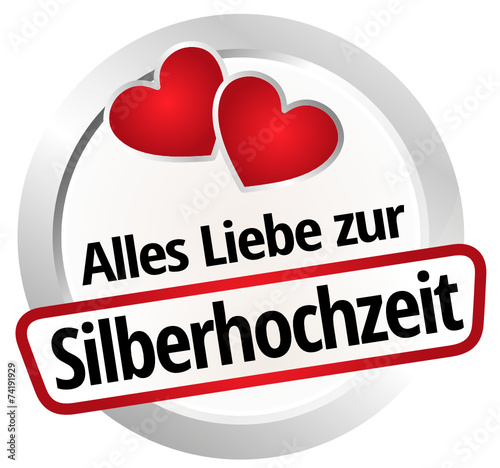 alles liebe zur silberhochzeit stockfotos und. Black Bedroom Furniture Sets. Home Design Ideas