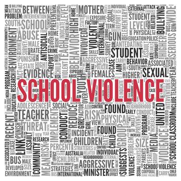 SCHOOL VIOLENCE Concept Word Tag Cloud Design