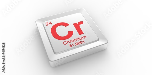 Cr Symbol 24 For Chromium Chemical Element Of The Periodic Table