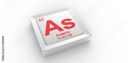 As Symbol 33 For Arsenic Chemical Element Of The Periodic Table