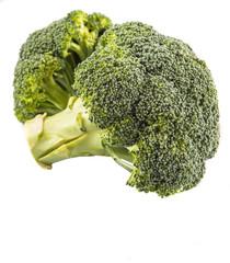 Broccoli over white background