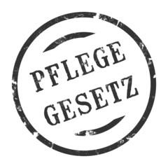 sk208 - StempelGrafik Rund - Pflegegesetz - g2665