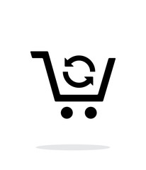 Exchange of product simple icon on white background.