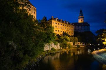 Cesky Krumlov Castle nocturne view