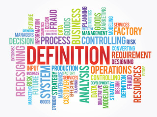Word cloud of DEFINITION related items, vector background