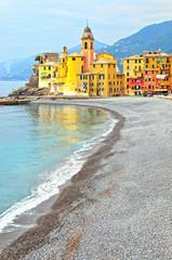 glimpse of Camogli, Genoa, Italy (hdr image)