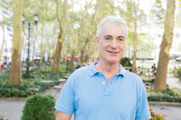 Senior Man Portrait at Park