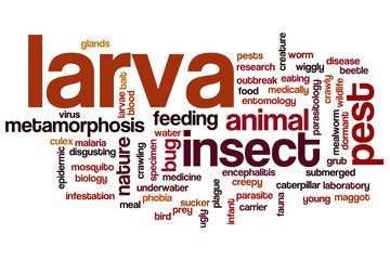 Larva word cloud