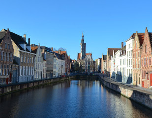 jan van eyck square in belgian bruges.