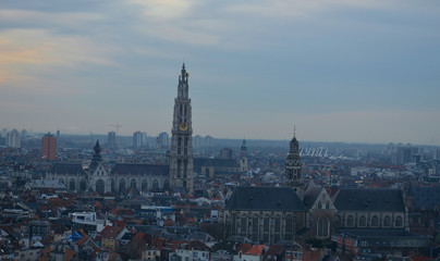 antwerp with cathedral of our lady