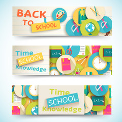 back to school abstract background of flat icons notebook concep
