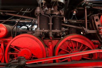 Dampflokomotive Detail