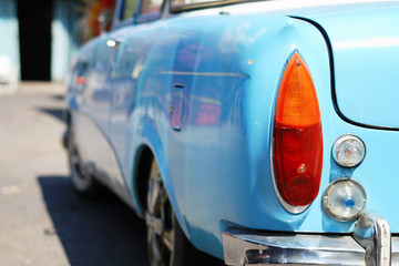 Rear light of a retro car detail