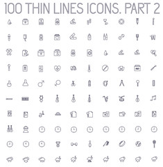part 2 of collection thin lines pictogram icon set concept backg