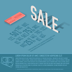 sale percent card business vector background concept. illustrati