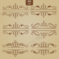set of vintage borders for design
