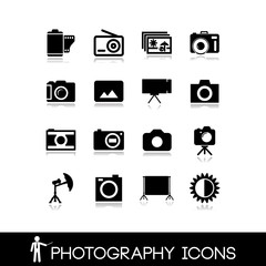Photography, camera lens and accessories - Set icons 5